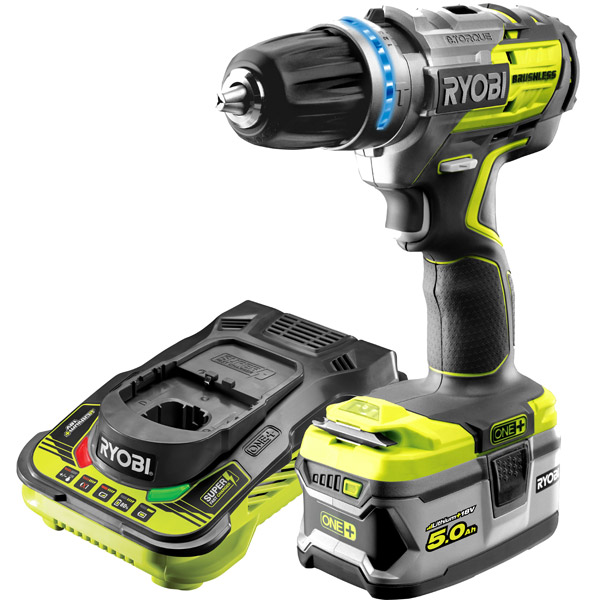 Ryobi R18PDBLKIT Brushless Percussion Drill & 5.0Ah Battery