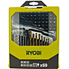 Ryobi RAK69MIX 69 Piece Mixed Drill and Screwdriver Bit Set