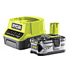 Ryobi 4.0Ah Battery and Charger Kit RC18120-140 18V ONE+