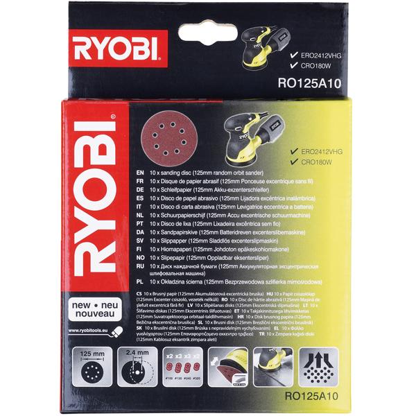 Ryobi ro125a10 sanding sheet set 10 pcs for 10 sanding disc for table saw
