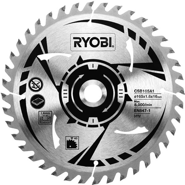 Ryobi csb165a1 circular saw blade 165 mm greentooth Image collections
