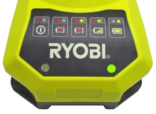 Ryobi charger green light on