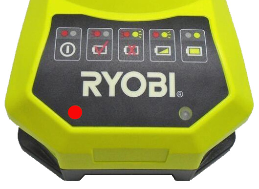 Ryobi charger red light on