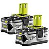 Ryobi RB18L40/2 18v 4.0Ah Li-ion Battery Twin Pack