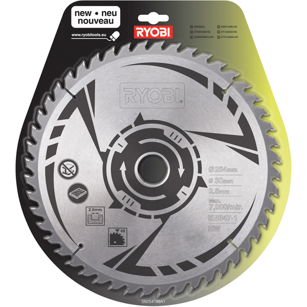 Ryobi sb254t48a1 mitre saw blade 48 t greentooth Image collections