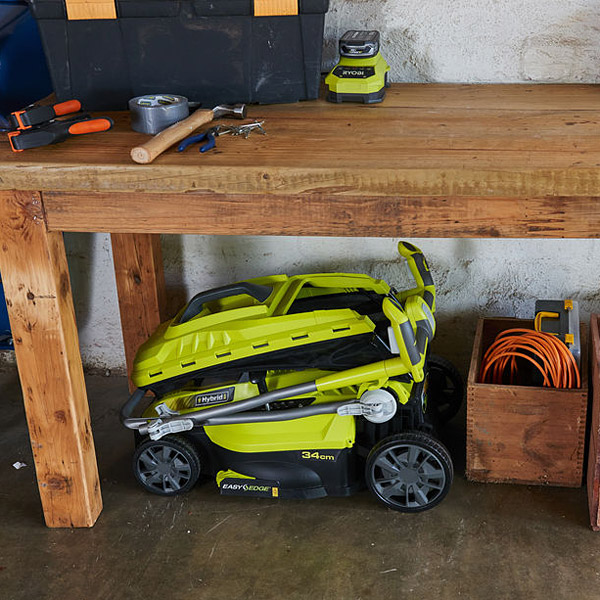 ryobi rlm18c34h25 one 36v fusion hybrid lawnmower. Black Bedroom Furniture Sets. Home Design Ideas