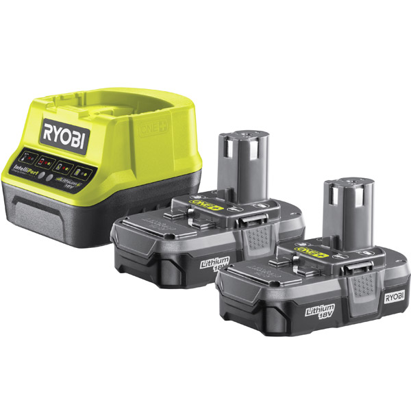 Ryobi RC18120-213 18V ONE+ Twin 1.3Ah Batteries and Charger Kit