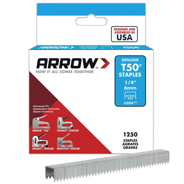 Arrow ARRT5014S 1250 6mm T50 Staples
