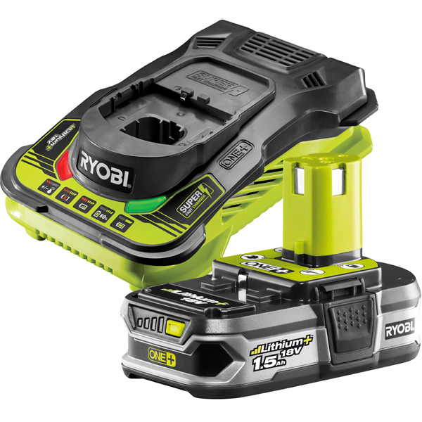 Ryobi RBC18L15 18V ONE+ 1.5Ah Battery and Charger Kit