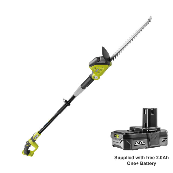 RYOBI 18V EXTENDABLE HEDGE TRIMMER C/W BATTERY & CHARGER
