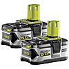 Ryobi RB18L50/2 18v 5.0Ah Li-ion Battery Twin Pack