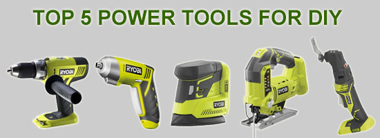 Top Five Power Tools for DIY Logo