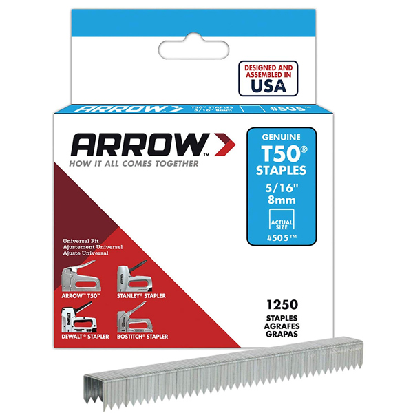 Arrow ARRT50516S 1250 8mm T50 Staples
