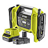Ryobi 18v Inflator Kit One Plus c/w R18MI-0 & RC18120-120