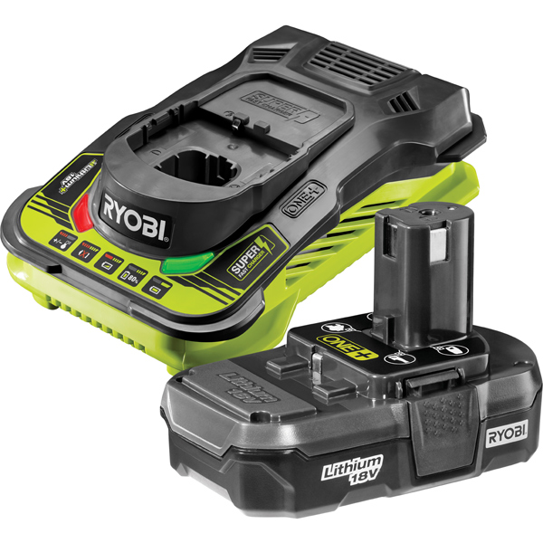Ryobi RBC18L13 18V ONE+ 1.3Ah Battery and Charger Kit