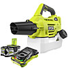 Ryobi Chemical Spray Fogger Kit 18v One+ c/w 1 x 5.0Ah Battery & Fast Charger RY18FGA-150