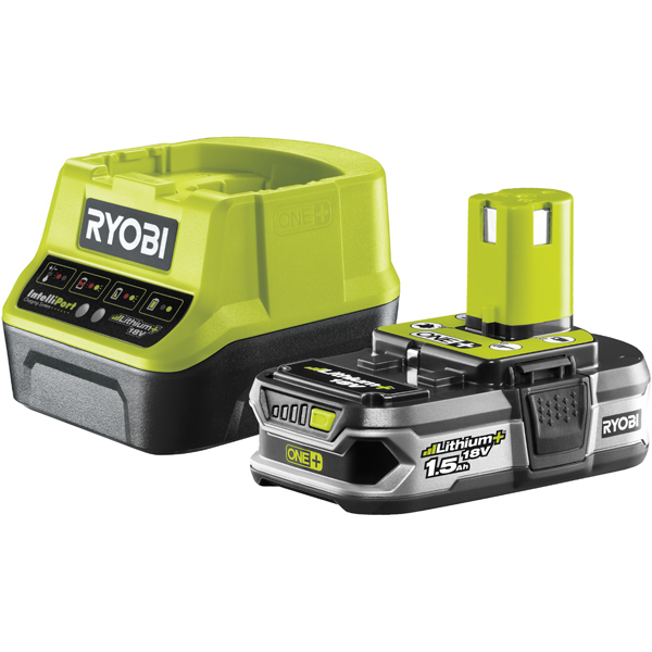 ryobi 18v charger and 1 5ah lithium battery. Black Bedroom Furniture Sets. Home Design Ideas