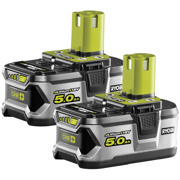 Ryobi RB18L50/2 18v 5 0Ah Li-ion Battery Twin Pack