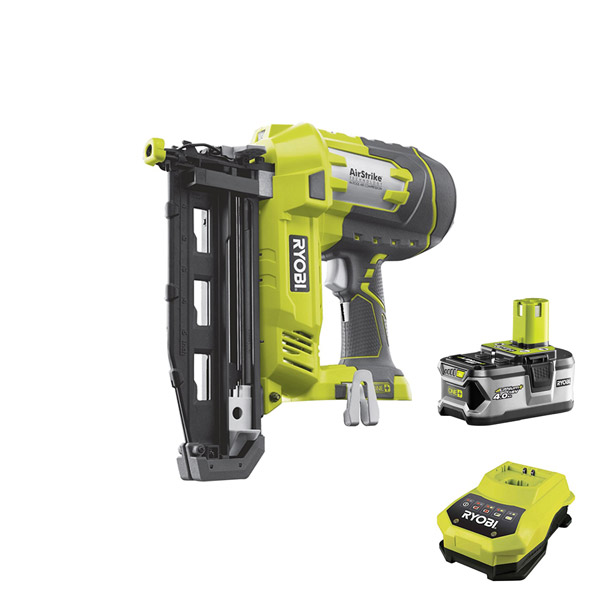 Ryobi 16 Gauge Nailer Kit R18N16G-Kit with 1 x 4Ah Battery