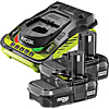 Ryobi RBC18LL13 18V ONE+ Twin 1.3Ah Batteries and Charger Kit