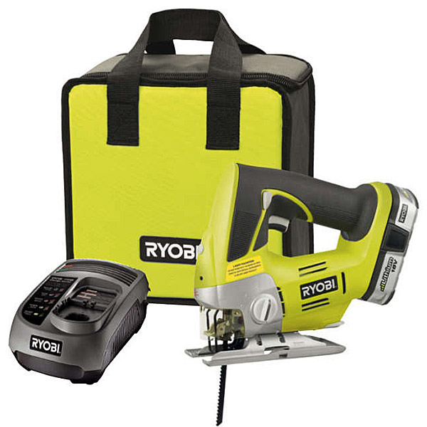 ryobi one plus 18v jigsaw kit with 1 x 1 4ah battery charger. Black Bedroom Furniture Sets. Home Design Ideas